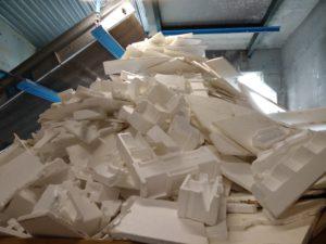 déchets de polystyrène